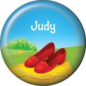 Ruby Slippers Personalized Button (each)