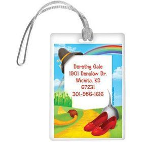 Ruby Slippers Personalized Luggage Tag (each)