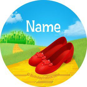Ruby Slippers Personalized Mini Stickers (Sheet of 20)