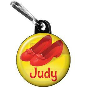 Ruby Slippers Personalized Mini Zipper Pull (each)