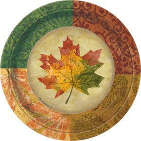 "Rustic Fall 7"" Small Plates (8 Pack)"