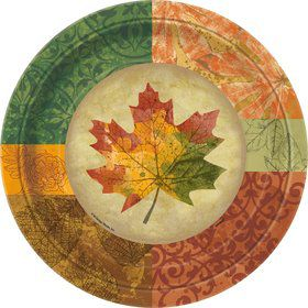 "Rustic Fall 9"" Large Plates (8 Pack)"