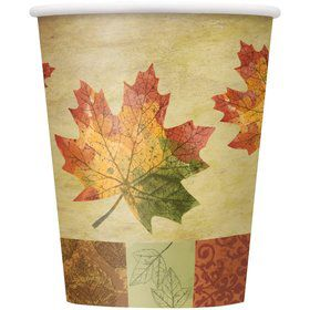 Rustic Fall 9oz Cups (8 Pack)