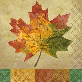 Rustic Fall Beverage Napkins (16 Pack)