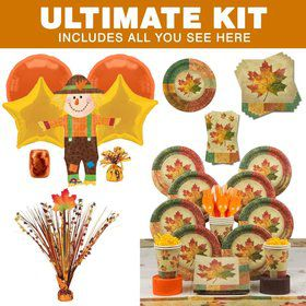 Rustic Fall Party Ultimate Tableware Kit Serves 8