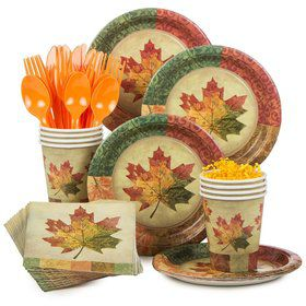 Rustic Fall Standard Tableware Kit Serves 8