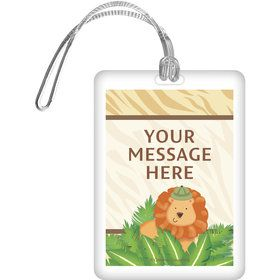 Safari Adventure Personalized Bag Tag (Each)