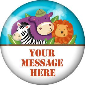 Safari Adventure Personalized Button (Each)