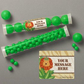 Safari Adventure Personalized Candy Tubes (12 Count)