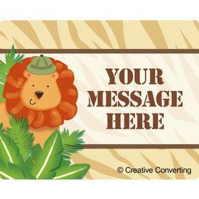 Safari Adventure Personalized Rectangular Stickers (Sheet of 15)