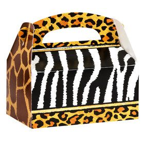 Safari Animal Adventure Empty Favor Boxes