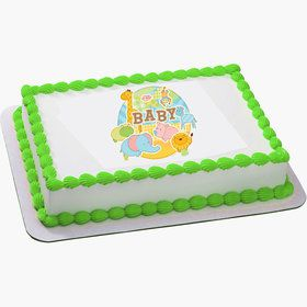 Safari Baby Quarter Sheet Edible Cake Topper (Each)