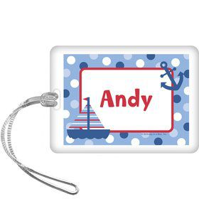Sail Party Personalized Bag Tag (each)