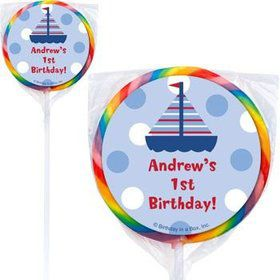 Sail Party Personalized Lollipops (pack of 12)