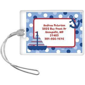 Sail Party Personalized Luggage Tag (each)