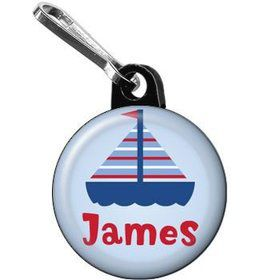 Sail Party Personalized Mini Zipper Pull (each)