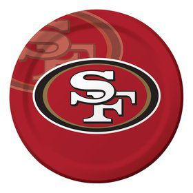 "San Francisco 49ers 9"" Luncheon Plates (8 Count)"