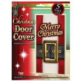 Santa Belt Christmas Door Cover
