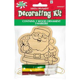 Santa Wood Ornament Decorating Kit (Each)