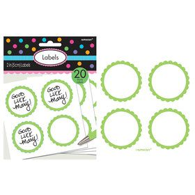 Scalloped Paper Labels- Kiwi (20)