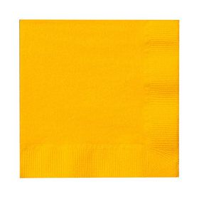 School Bus Yellow (Yellow) Beverage Napkins