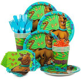 Scooby Doo Birthday Party Standard Tableware Kit Serves 8