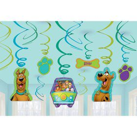 Scooby Doo Foil Swirl Hanging Decorations (Each)