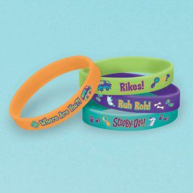 Scooby Doo Rubber Bracelet Favors (4 Pack)