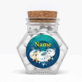 "Sea Explorer Personalized 3"" Glass Hexagon Jars (Set of 12)"
