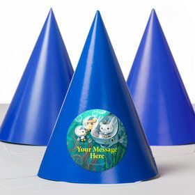 Sea Explorer Personalized Party Hats (8 Count)