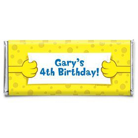 Sea Sponge Personalized Candy Bar Wrapper (Each)