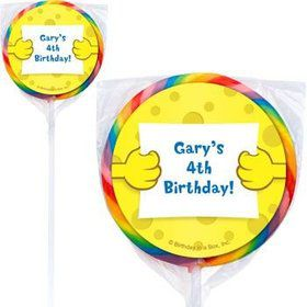 Sea Sponge Personalized Lollipops (pack of 12)