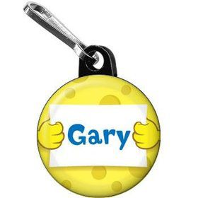 Sea Sponge Personalized Mini Zipper Pull (each)