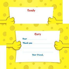 Sea Sponge Personalized Thank You Note (each)