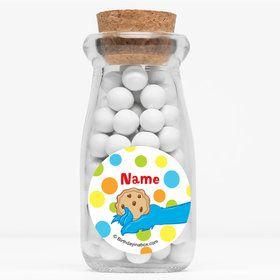 "Sesame Friends Personalized 4"" Glass Milk Jars (Set of 12)"