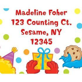 Sesame Friends Personalized Address Labels (sheet of 15)