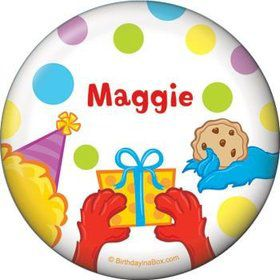 Sesame Friends Personalized Button (each)