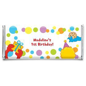 Sesame Friends Personalized Candy Bar Wrapper (Each)