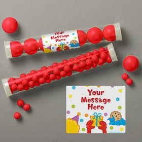 Sesame Friends Personalized Candy Tubes (12 Count)