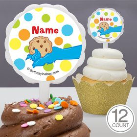 Sesame Friends Personalized Cupcake Picks (12 Count)