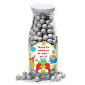 Sesame Friends Personalized Glass Milk Bottles (10 Count)