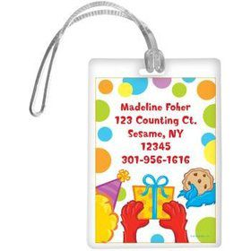Sesame Friends Personalized Luggage Tag (each)
