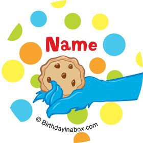 Sesame Friends Personalized Mini Stickers (Sheet of 24)