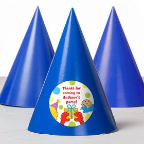 Sesame Friends Personalized Party Hats (8 Count)