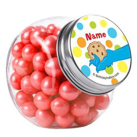 Sesame Friends Personalized Plain Glass Jars (12 Count)
