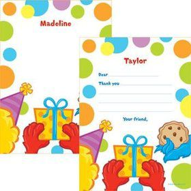 Sesame Friends Personalized Thank You Note (each)
