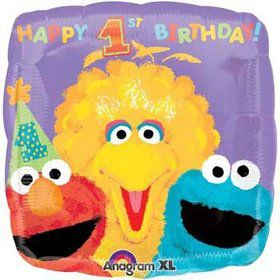 Sesame Street 1st Birthday Balloon (each)