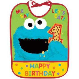 Sesame Street 1st Birthday Bib (each)