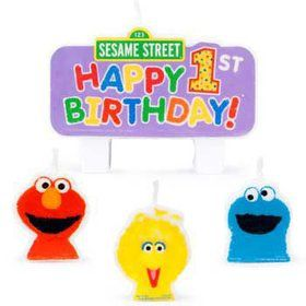 Sesame Street 1st Birthday Candle (set)