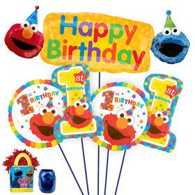 Sesame Street 1st Birthday Deluxe Balloon Bouquet Kit